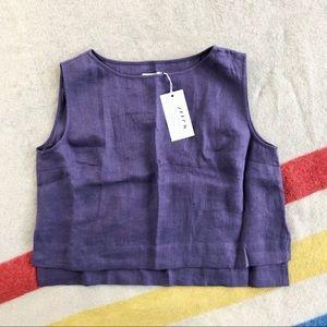NWT OffOn linen cropped handmade tank top